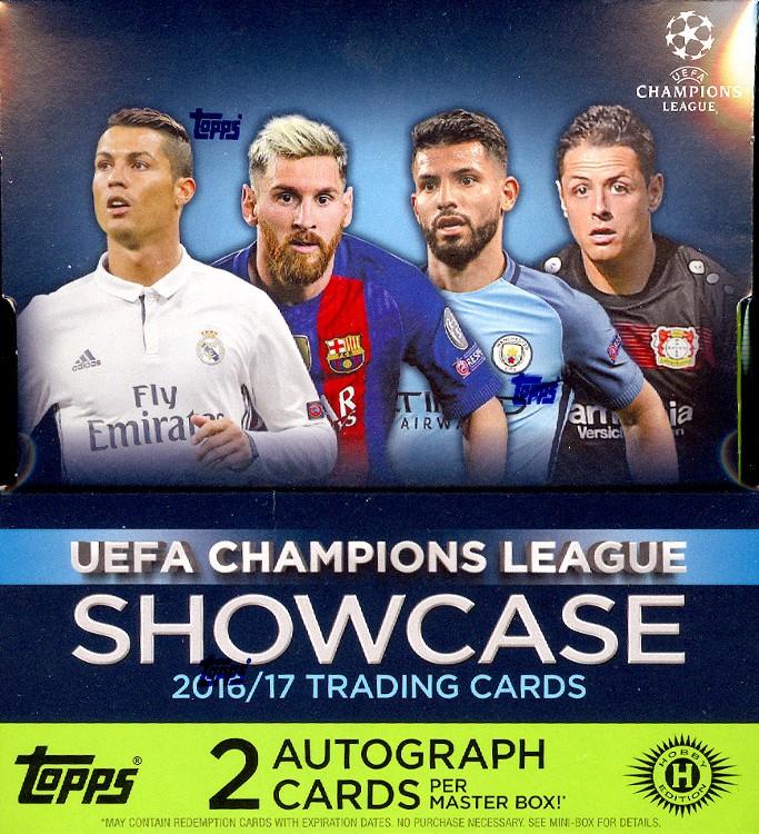 2016/17 Topps UEFA Champions League Showcase Soccer Box