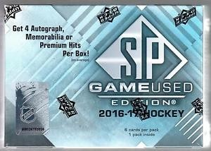 2016/17 Upper Deck SP Game Used Hockey Hobby 10 Box Case