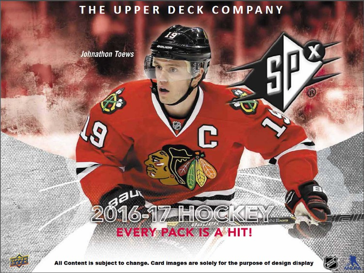 2016/17 Upper Deck SPx Hockey Hobby 10 Box Case