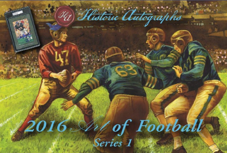 2016 Historic Autograph Art of Football 16 Box Case