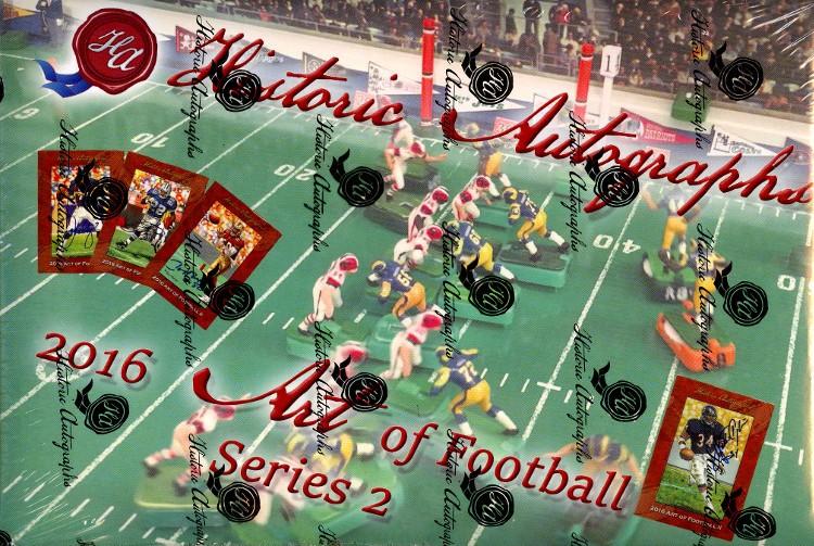 2016 Historic Autographs The Art of Football Series 2 - 16 Box Case