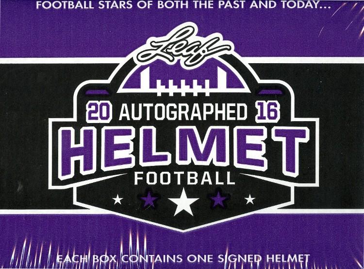 2016 Leaf Autographed Full Sized Helmet Football 3 Box Case