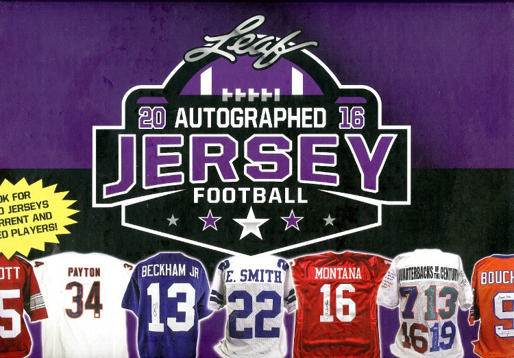 2016 Leaf Autographed Jersey Edition Football Box