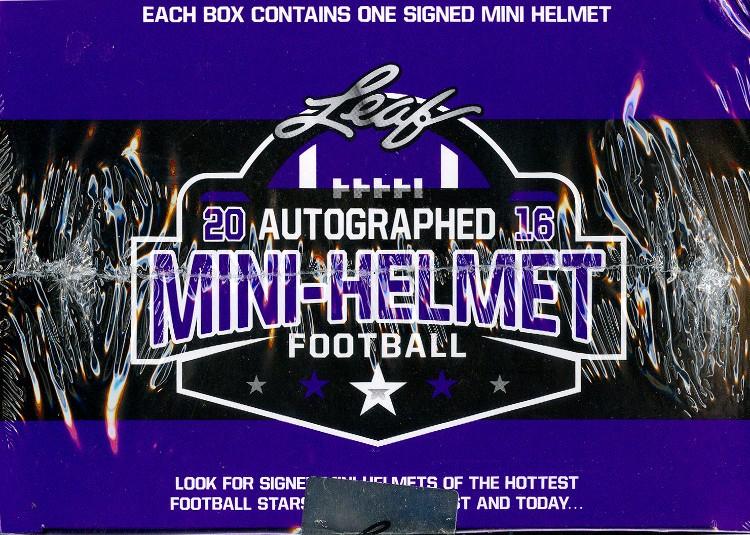 2016 Leaf Autographed Mini Helmet Football 8 Box Case