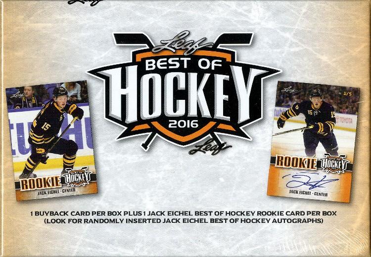 2016 Leaf Best of Hockey Hobby 4 Box Case