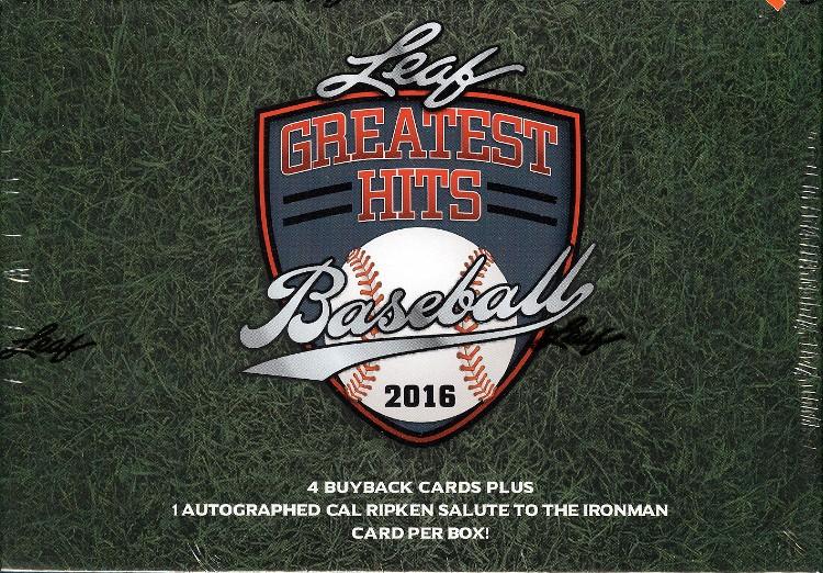 2016 Leaf Greatest Hits Baseball Hobby Box