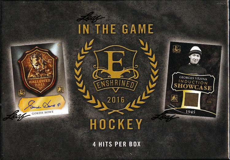 2016 Leaf ITG Enshrined Hockey 10 Box Case