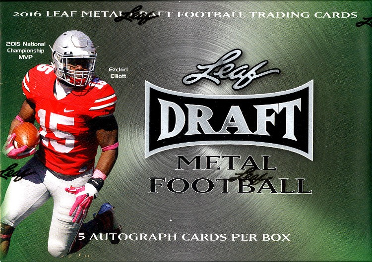 2016 Leaf Metal Draft Football Hobby Box