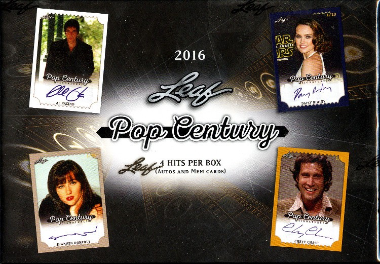 2016 Leaf Pop Century Trading Cards 10 Box Case
