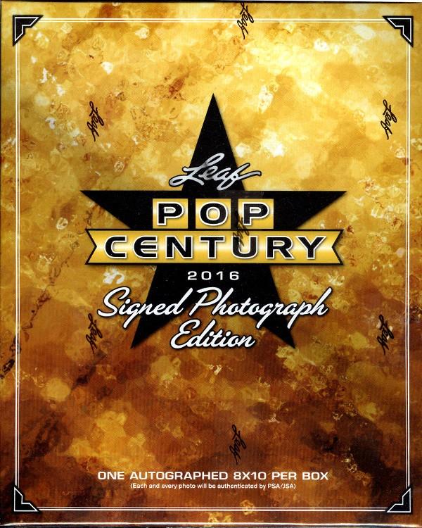 2016 Leaf Pop Century Signed 8x10 Photograph Ed 12 Box Case