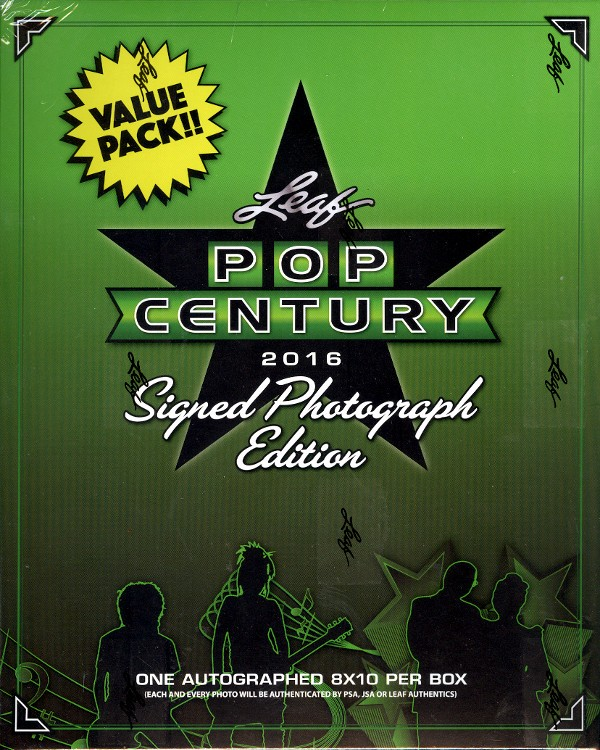 2016 Leaf Pop Century Signed 8x10 Photograph Retail Box