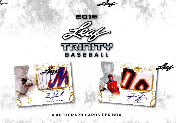 2016 Leaf Trinity Baseball Hobby 10 Box Case