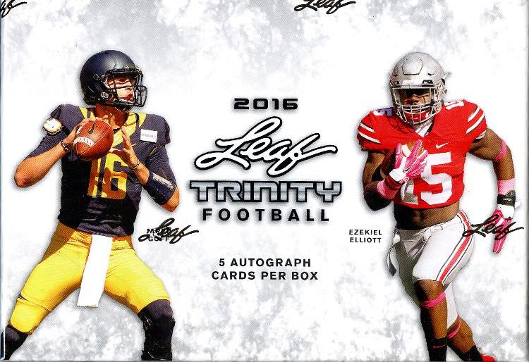2016 Leaf Trinity Football Hobby 12 Box Case