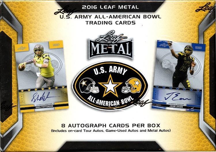 2016 Leaf Metal US Army All-American Bowl Football 12 Box Case