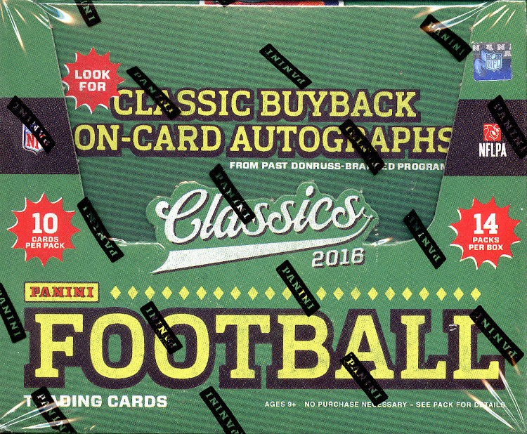 2016 Panini Classics Football Hobby 20 Box Case