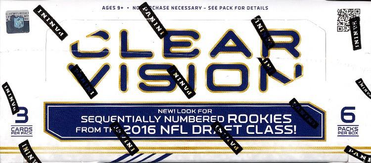 2016 Panini Clear Vision Football Hobby 18 Box Case