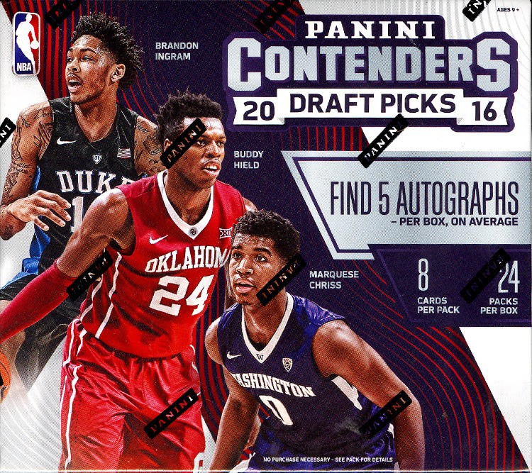 2016 Panini Contenders Draft Picks Basketball Hobby 12 Box Case