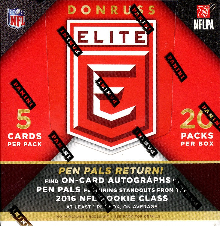2016 Panini Donruss Elite Football Hobby Box