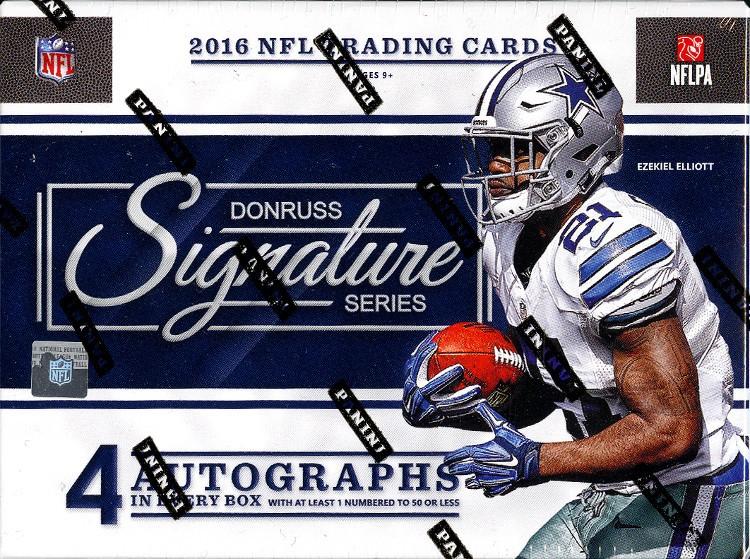 2016 Panini Donruss Signature Series Football Hobby 8 Box Case