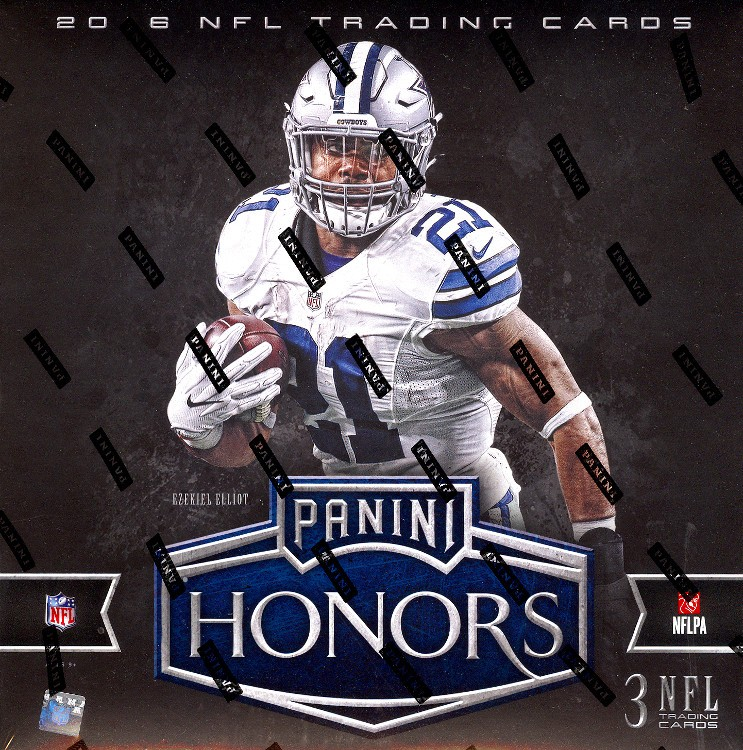2016 Panini Honors Football Hobby 10 Box Case