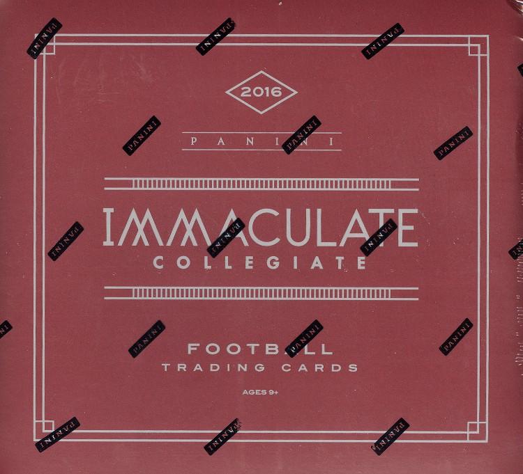 2016 Panini Immaculate Collegiate Football Hobby 5 Box Case