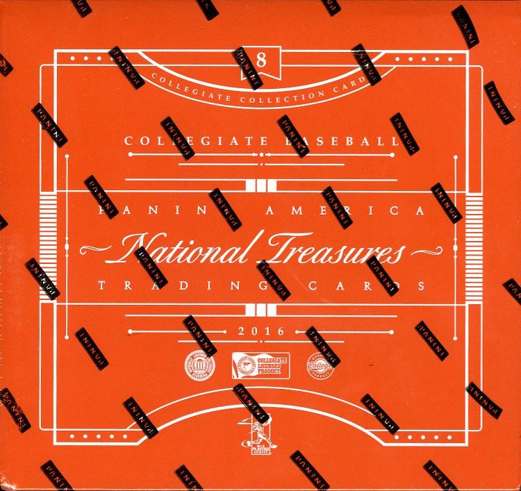 2016 Panini National Treasures College Baseball Hobby 4 Box Case