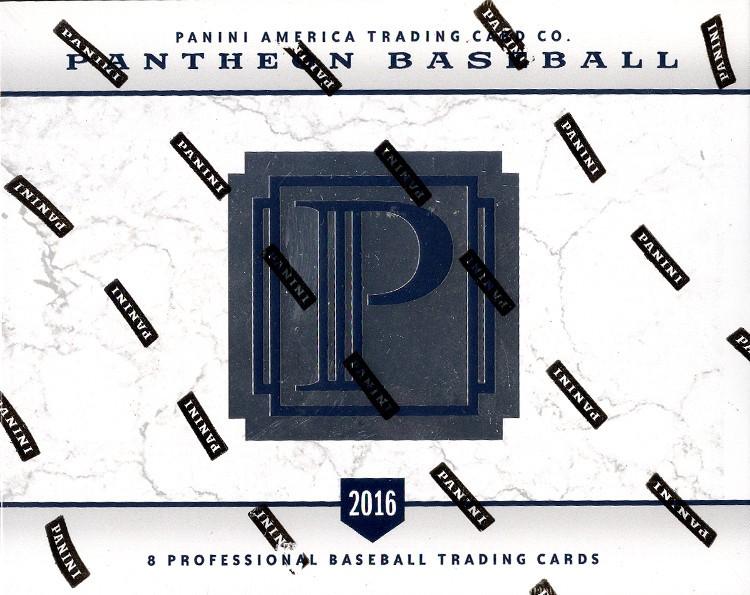 2016 Panini Pantheon Baseball Hobby 4 Box Case