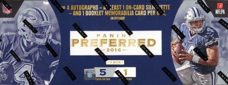 2016 Panini Preferred Football Hobby Box