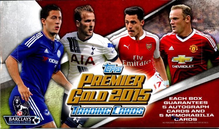 2015 Topps Premier Gold Soccer 6 Box Case