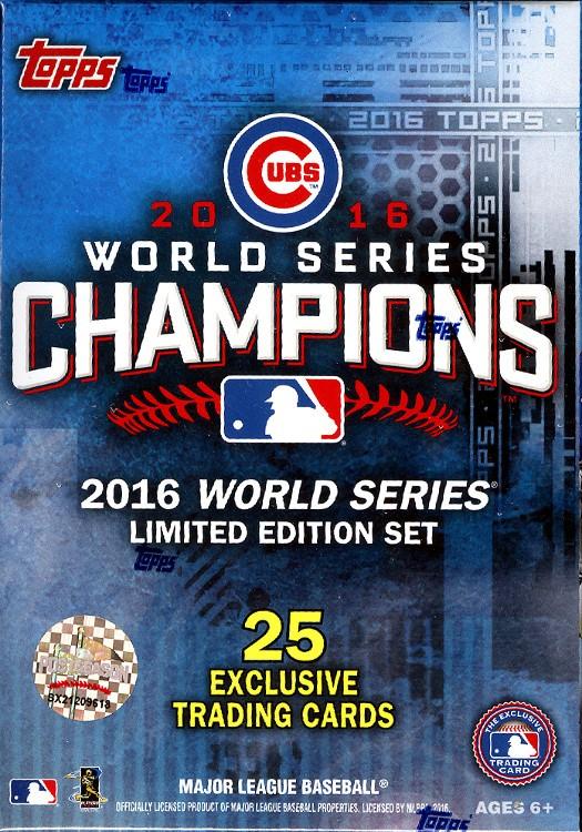 2016 Topps World Series Chicago Cubs Champ Box Set - 16 Box Case