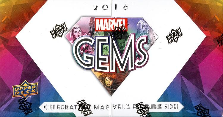 2016 Upper Deck Marvel Gems Hobby 10 Box Case
