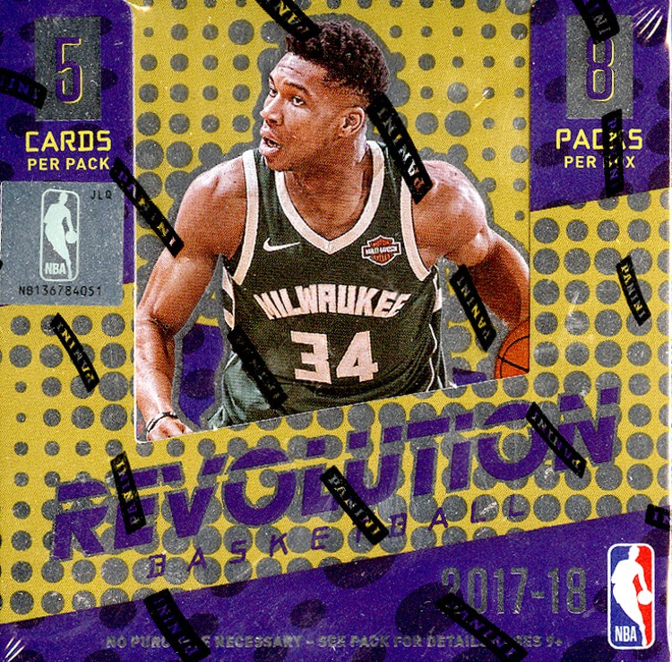 2017/18 Panini Revolution Basketball Hobby 16 Box Case