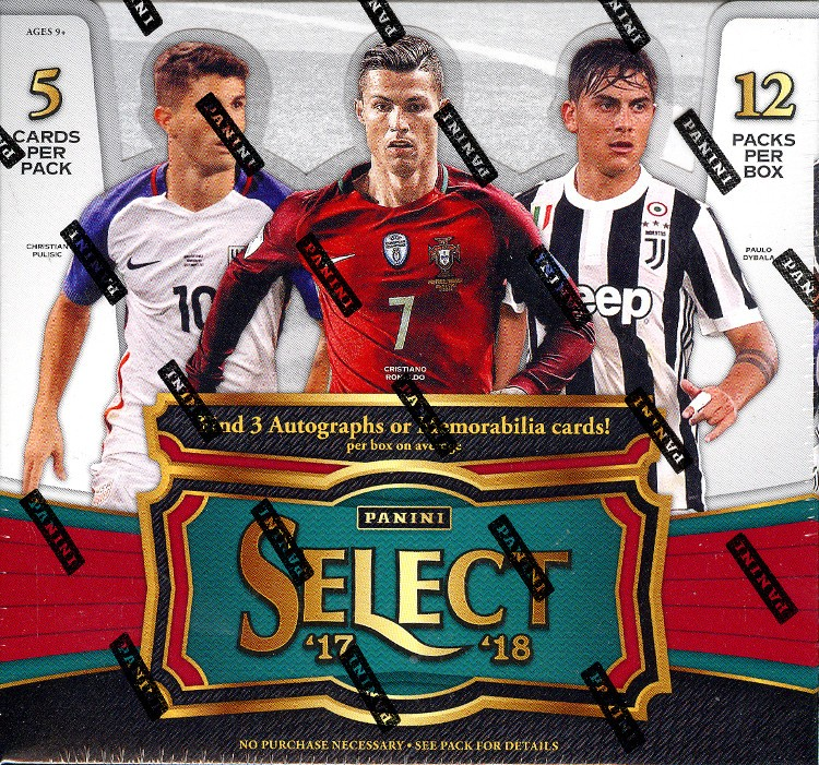 2017/18 Panini Select Soccer Hobby 12 Box Case