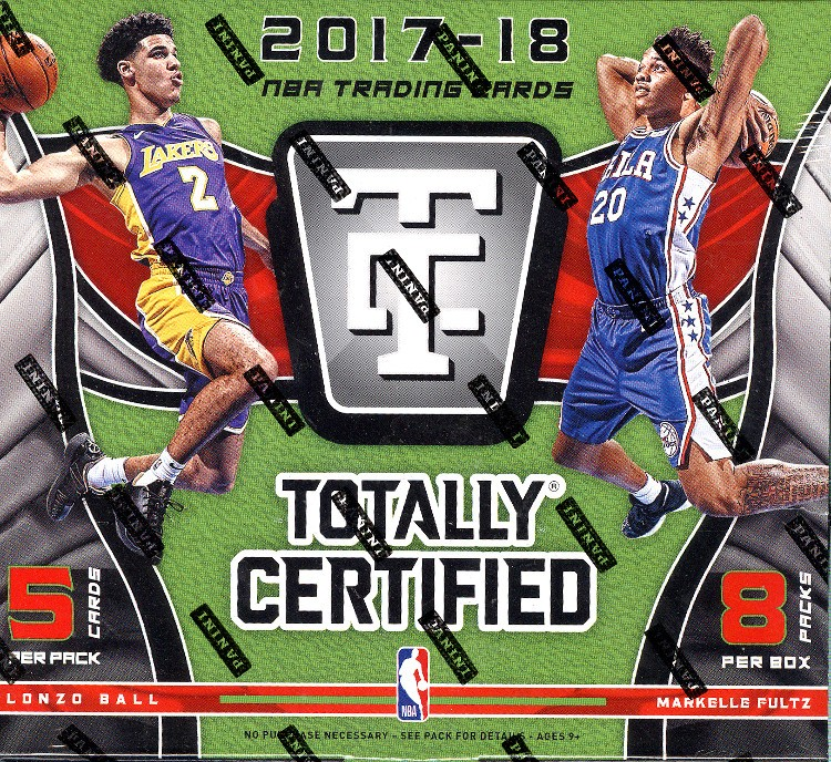 2017/18 Panini Totally Certified Basketball Hobby 16 Box Case