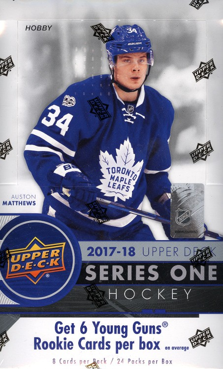 2017/18 Upper Deck Series 1 Hockey Hobby 12 Box Case