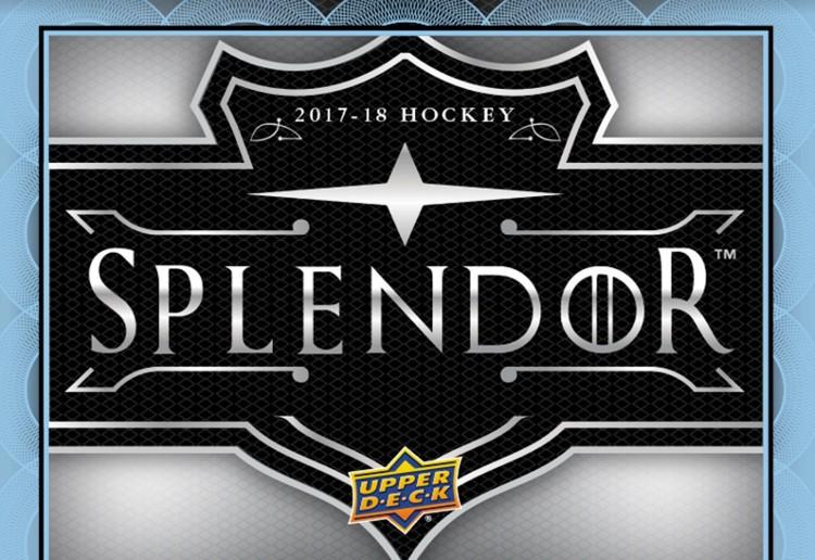 2017/18 Upper Deck Splendor Hockey Hobby 12 Box Case
