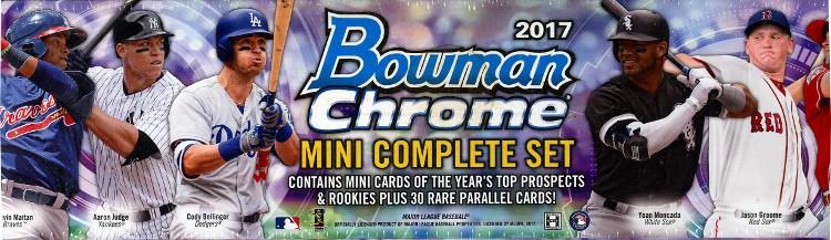 2017 Bowman Chrome Baseball Mini Factory Set