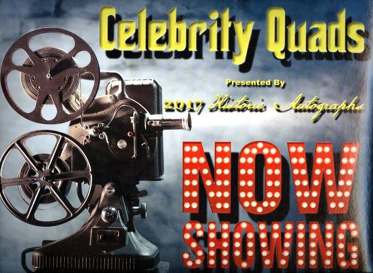 2017 Historic Autographs Celebrity Quads - 8 Box Case