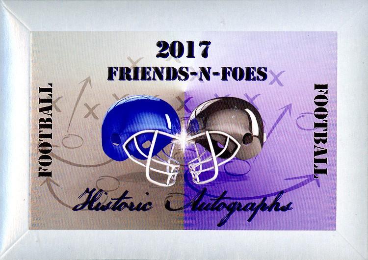 2017 Historic Autographs Friends-N-Foes Football 12 Box Case