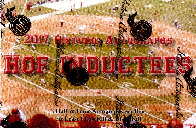 2017 Historic Autographs Hall Of Fame Inductees Box