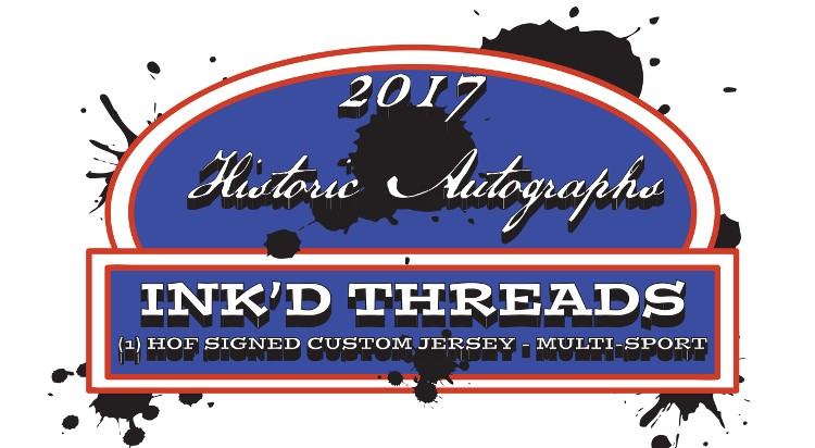 2017 Historic Autographs Inked Threads Jersey 12 Box Case