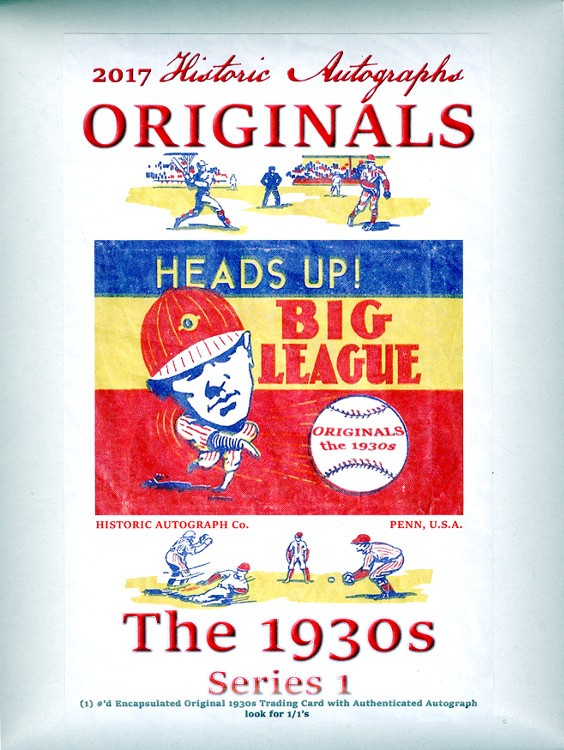 2017 HA Originals The 1930s Series 1 Baseball 16 Box Case