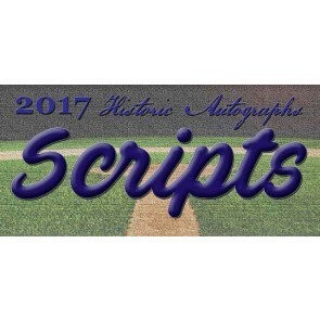 2017 Historic Autographs Scripts Baseball 8 Box Case