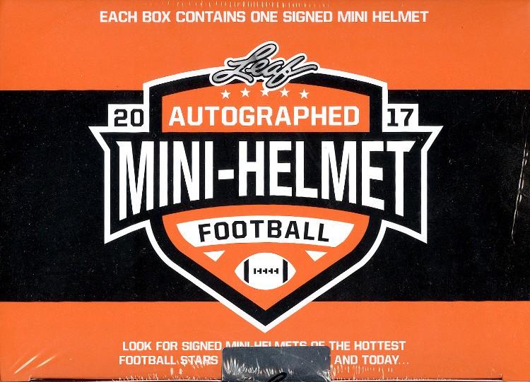 2017 Leaf Autographed Mini Helmet Football 8 Box Case