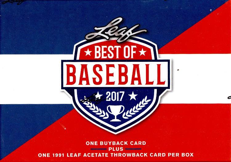 2017 Leaf Best of Baseball 5 Box Case