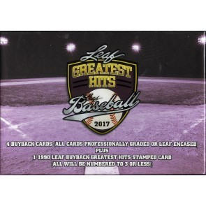 2017 Leaf Greatest Hits Baseball Hobby 3 Box Case
