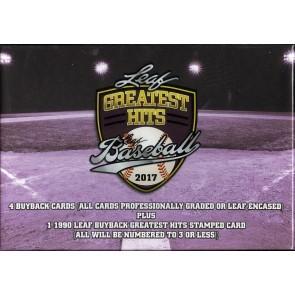 2017 Leaf Greatest Hits Baseball Hobby Box