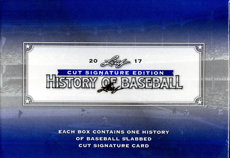2017 Leaf History of Baseball Cut Signature Box