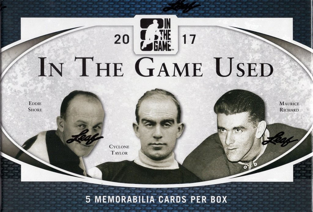 2017 Leaf In The Game (ITG) Game Used Hockey 10 Box Case