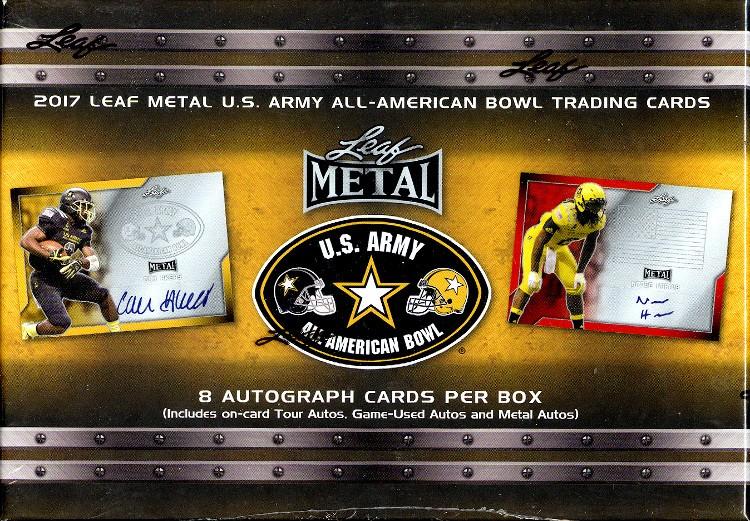 2017 Leaf Metal US Army All-American Football 15 Box Case